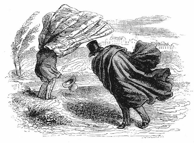 J.J. Grandville cartoon about wind
