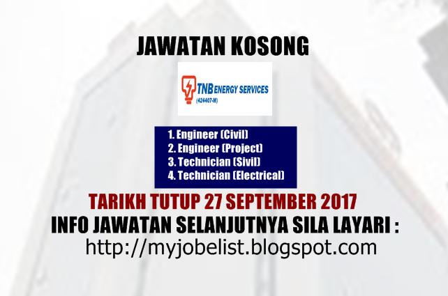 Jawatan Kosong di TNB Energy Services (TNBES) September 2017