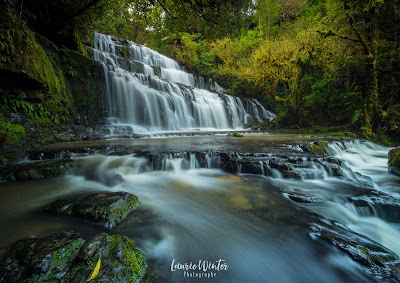 Catlins, Purakaunui Falls, New Zealand, NZ, Southland, Waterfall