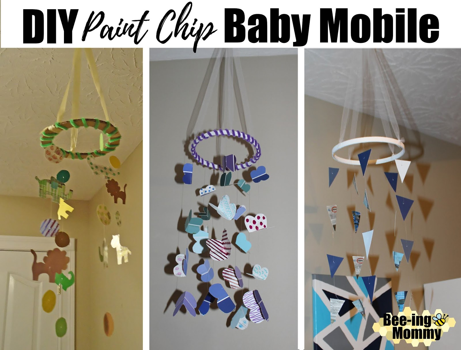 Paint Chip Baby Mobile Tutorial