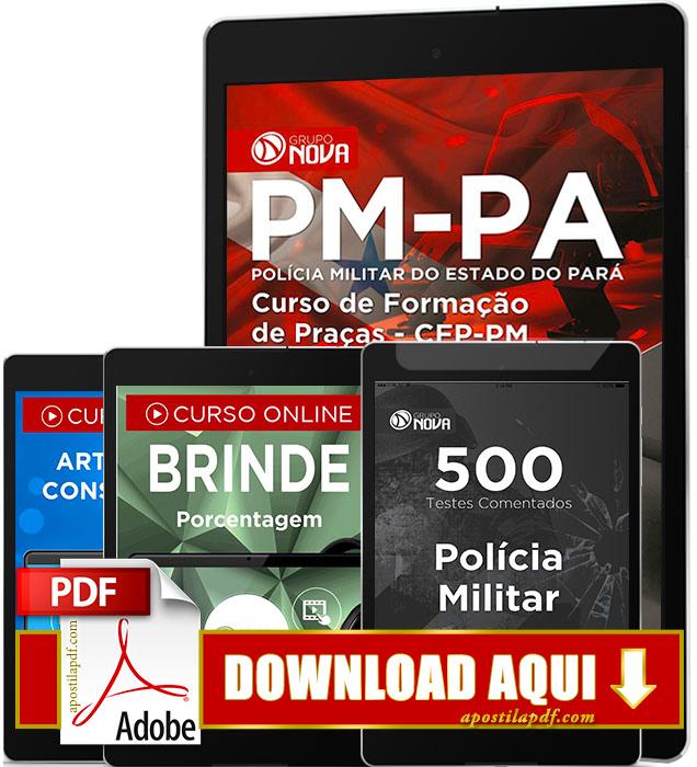 Apostila PM PA 2016 PDF Download Curso de Formação de Praças PDF Digital
