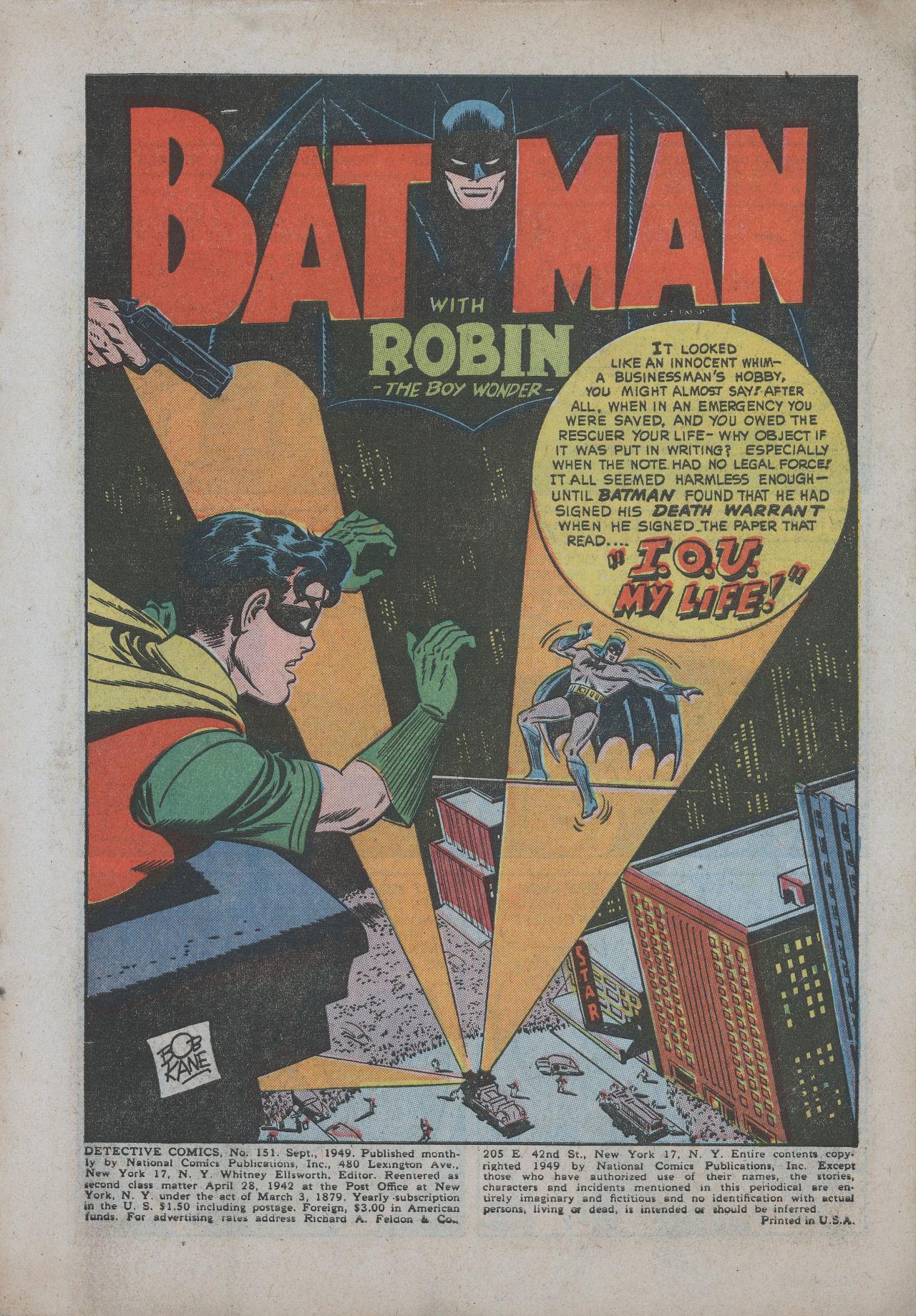 Detective Comics (1937) 151 Page 2