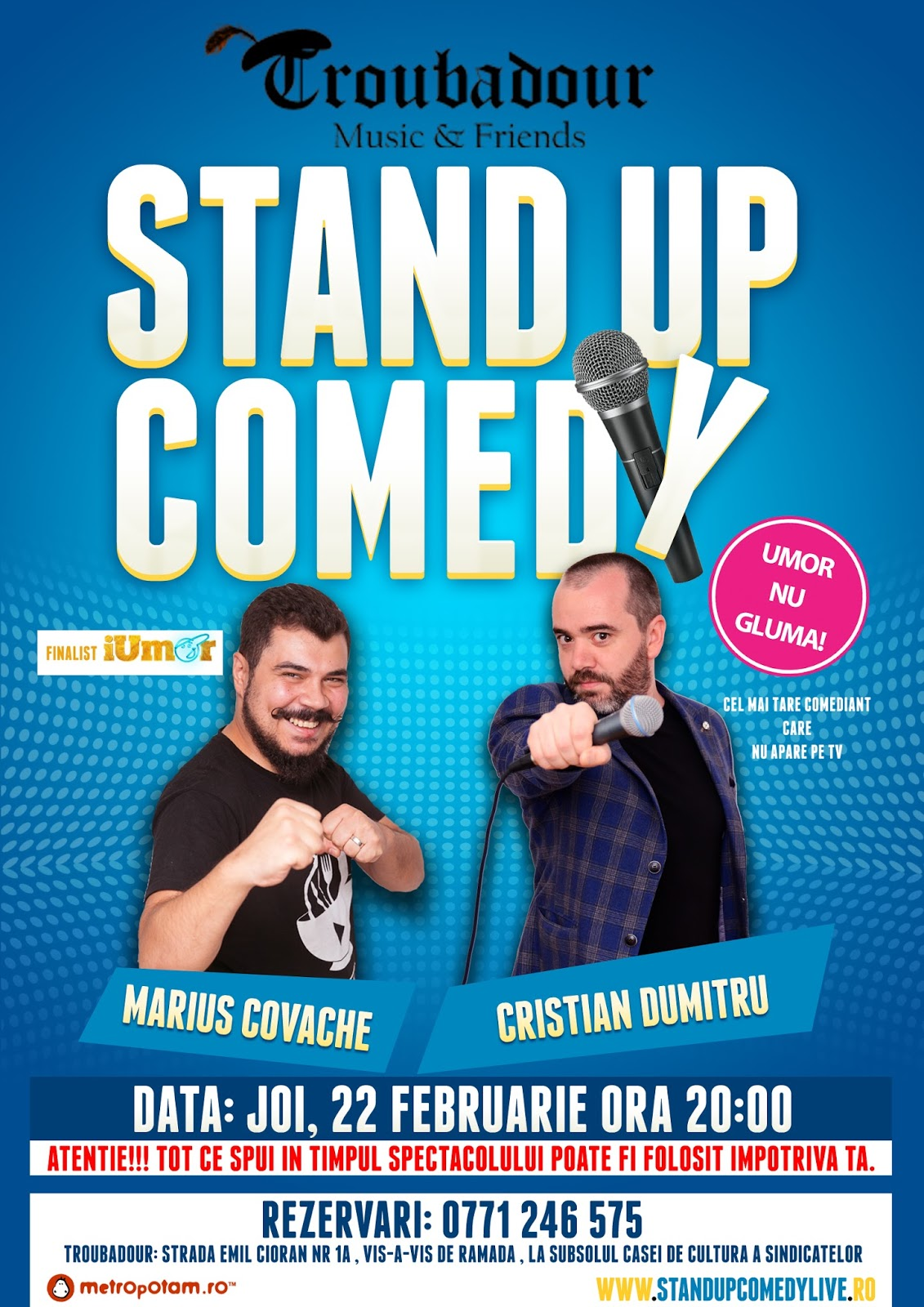 Stand-Up Comedy Sibiu Joi 22 Februarie 2018