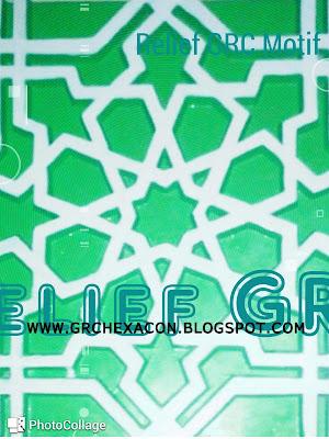 Krawangan motif bintang geometris