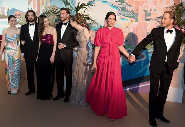 Princess Caroline, Charlotte Casiraghi, Dimitri Rassam, Pierre Casiraghi, Beatrice Casiraghi Borromeo, Andrea Casiraghi, Tatiana Casiraghi and Princess Alexandra