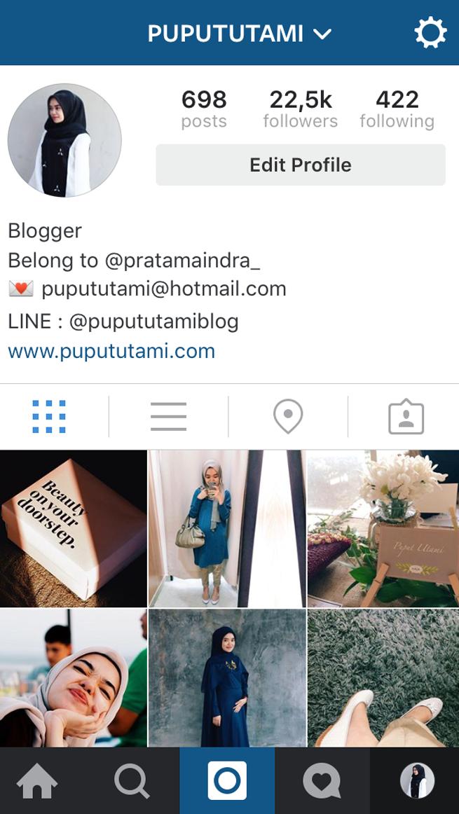 instagram puput utami