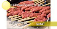 Hackfleisch-Zitronengras-Spieße mit Mango-Chili-Dip