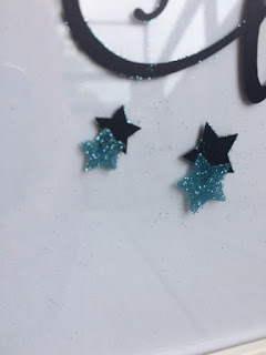glitter, stars, double-sided adhesive