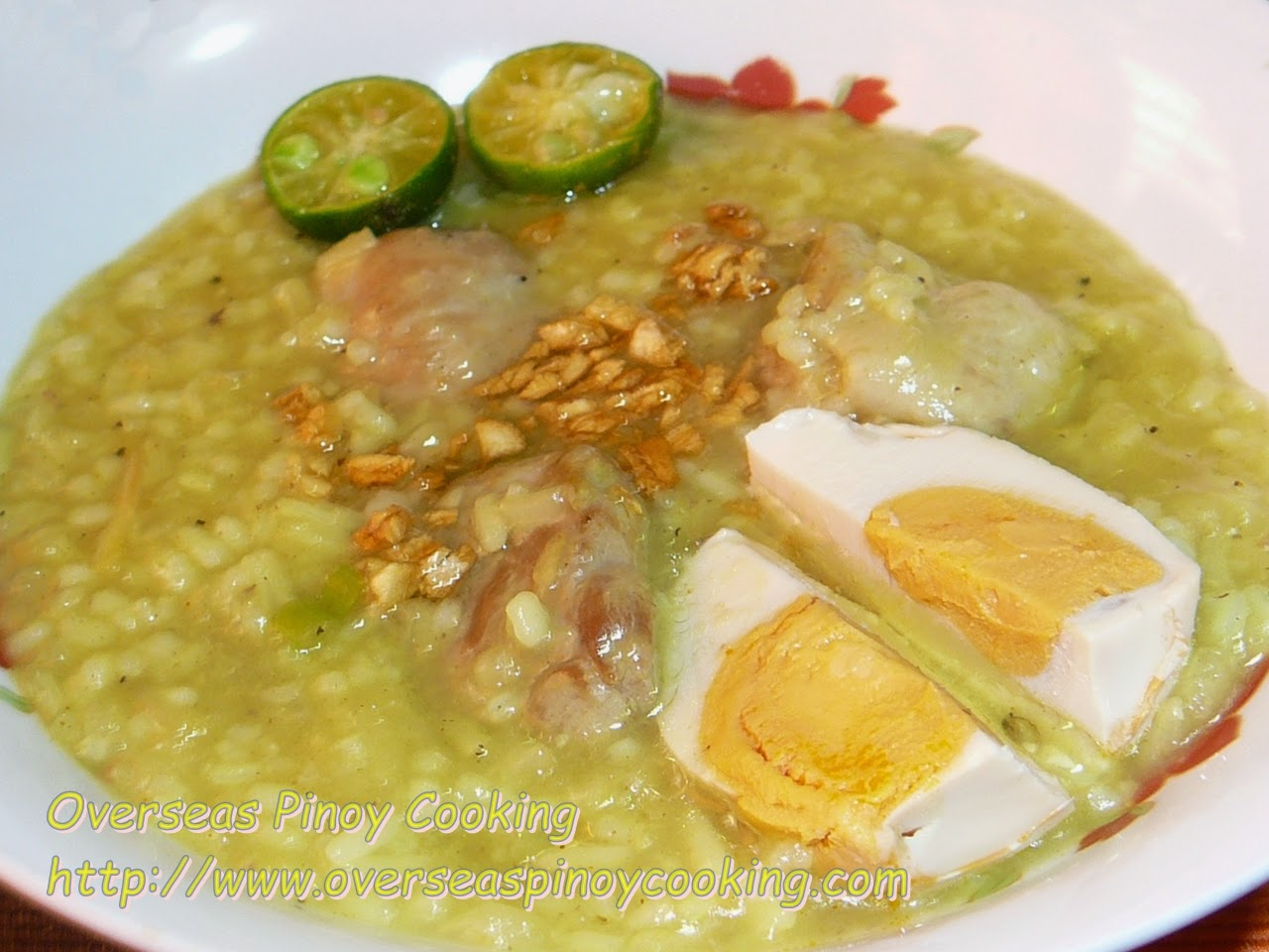 Lugaw with Salted Egg