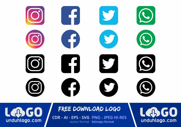 Logo Instagram Facebook Twitter Whatsapp