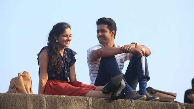 Angira Dhar (left) in Love Per Square Foot with Vicky Kaushal