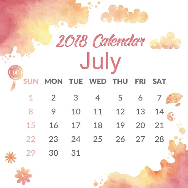 July 2018 Calendar, July 2018 Calendar Printable, July 2018 Calendar Template, July 2018 Calendar Holidays, July 2018 Calendar PDF, July 2018 Printable Calendar, Blank July Calendar 2018