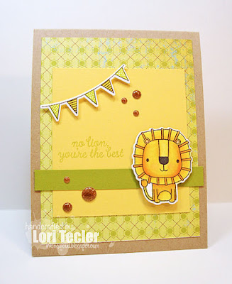 No Lion card-designed by Lori Tecler/Inking Aloud-stamps and dies from Reverse Confetti
