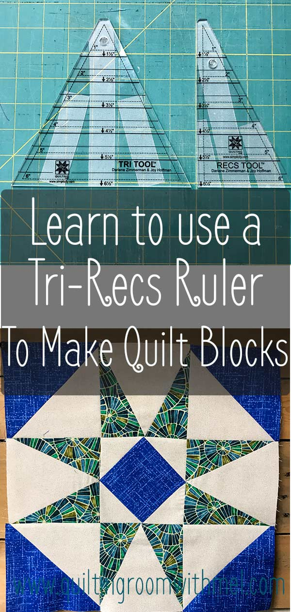 Learn how to use a tri recs ruler to make interesting quilt blocks.