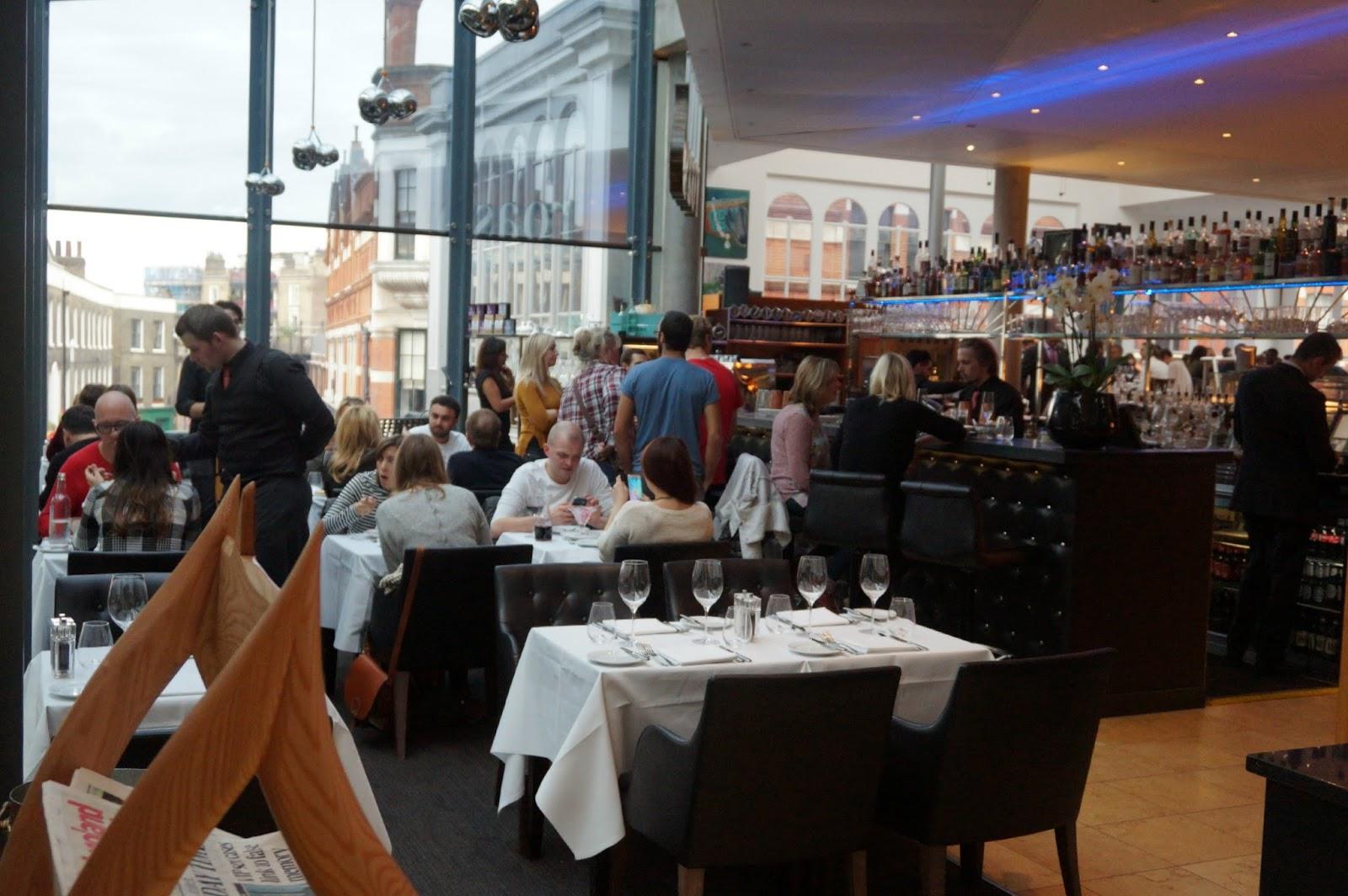 Inside london restaurant