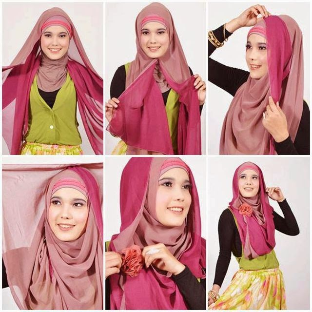 Ingin terlihat lebih stylish dengan hijab namun tetap syar Cara Memakai Jilbab Pashmina Syar'i