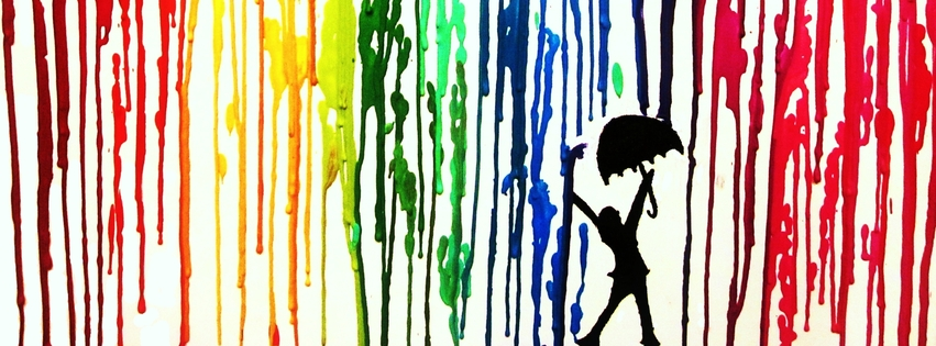Dancing in the Crayon Rain Facebook Cover | Facebook ...