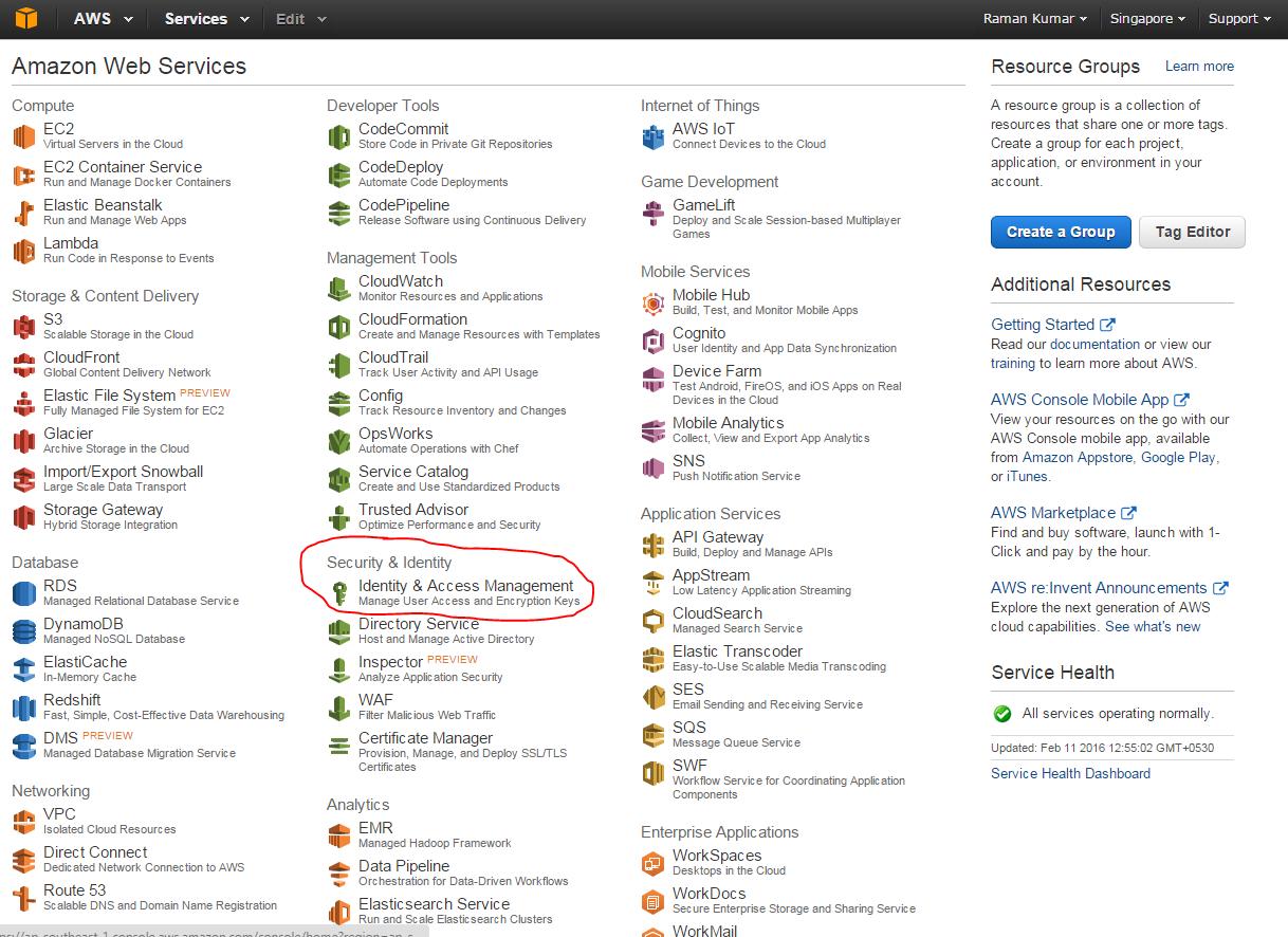 AWS IAM User Create Steps - Access key ID and secret access