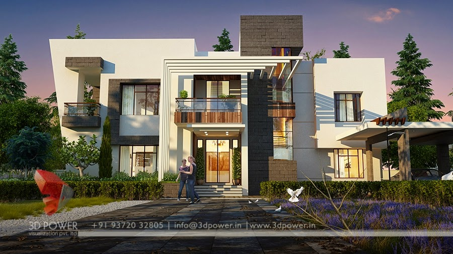 3D View  In Artist Style Bungalow