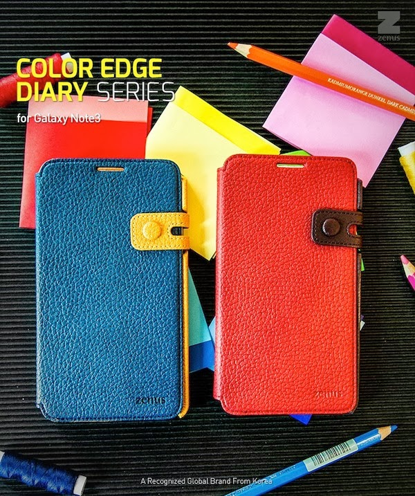 Color Edge Diary Case Samsung Galaxy Note 3 Leather Diary Cases
