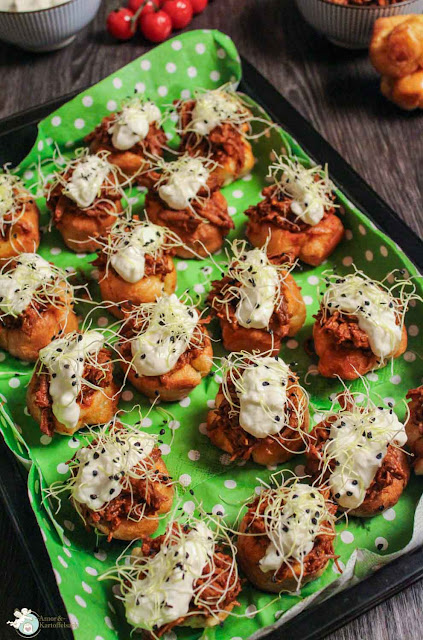 Fingerfood mit Pulled Beef