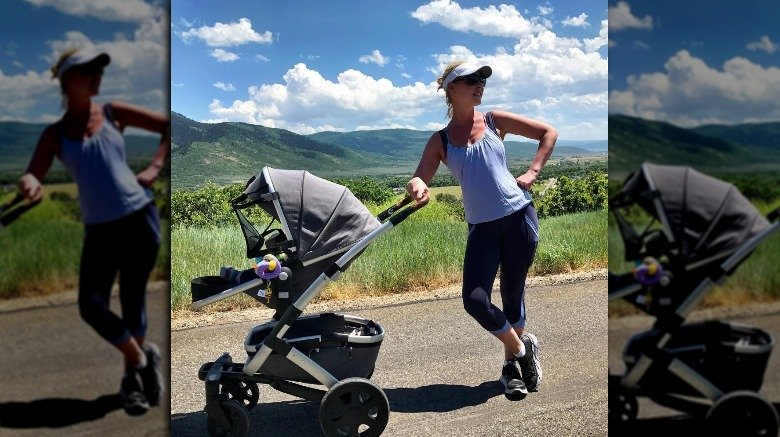 Classic new mom cardio — the stroller push