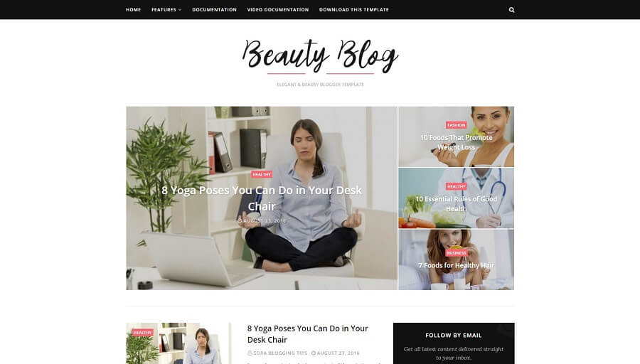 Beauty Blog - Responsive Blogger Template