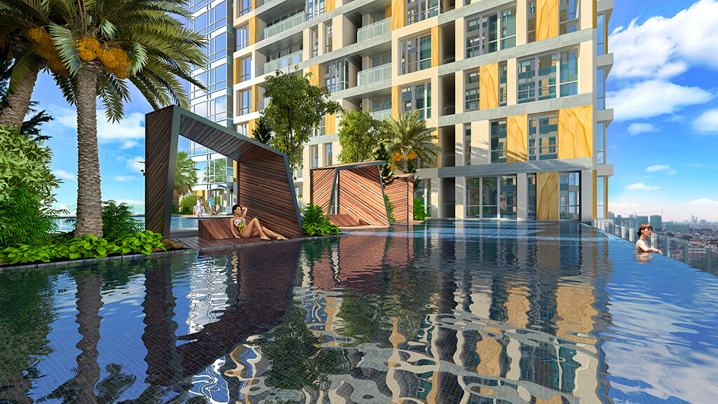 Tiện ích bể bơi tại chung cư Gold Light Complex Khuất Duy Tiến