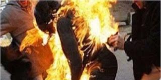 بنزرت: وفاة شاب منذ قليل  أضرم النار في جسده