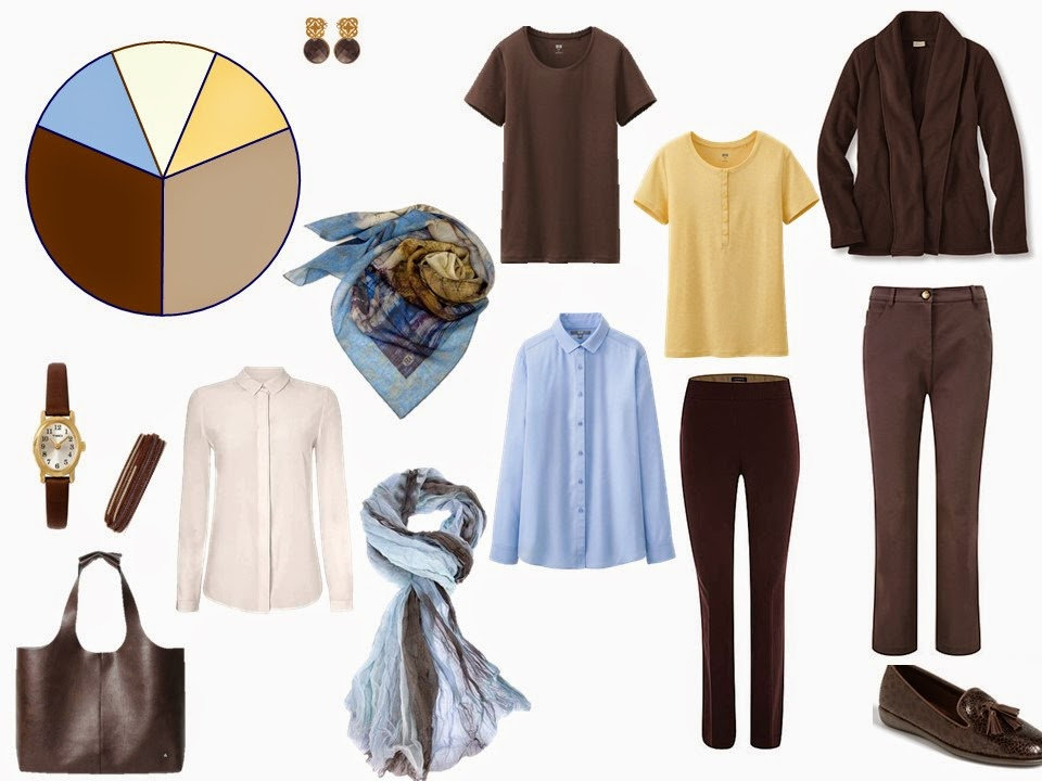 How to build a capsule wardrobe from scratch - step 6 - adding accent color tops and scarf
