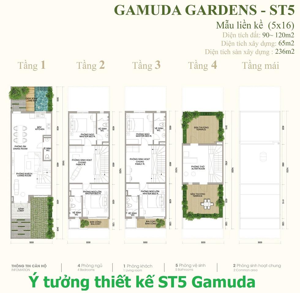 Ý tưởng thiết kế Liền Kề Dahria Gamuda