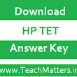 HP TET Answer Key 2017 for JBT, TGT, LT & Shastri TET Exam Sept. 2017