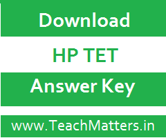 image : Download HP TET Answer Key 2021 @ TeachMatters