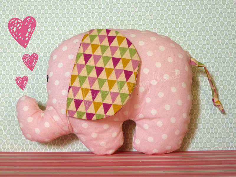 DIY Stoffreste Elefant Nähen Stoffreste-Linkparty