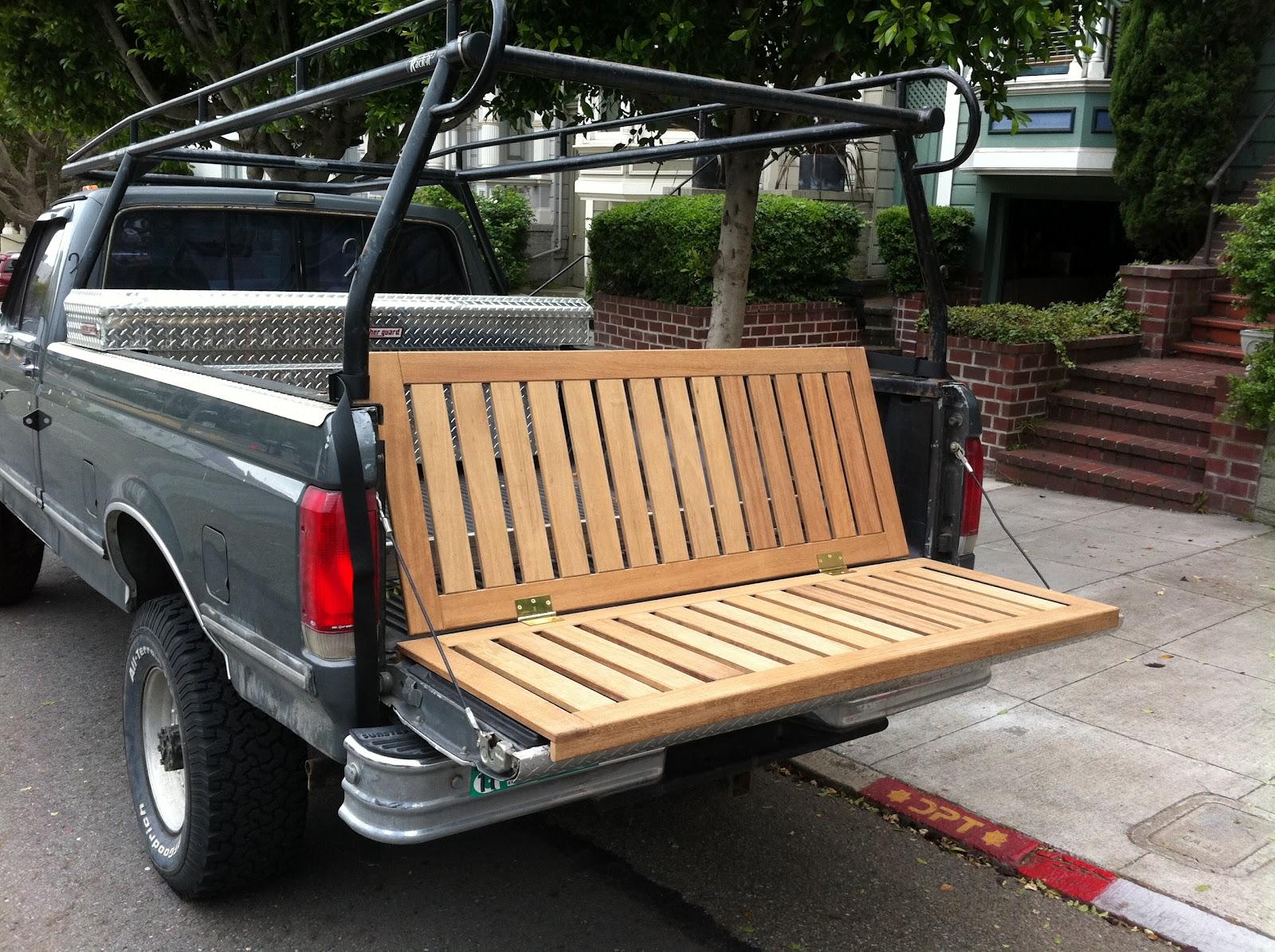 Am Custom Truck Tailgate Bench
