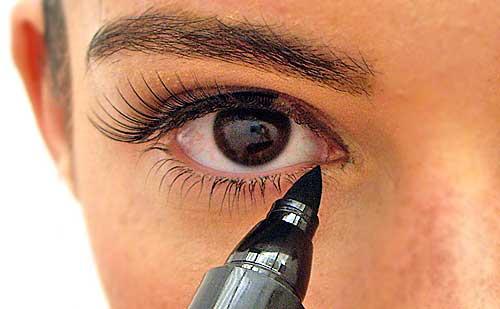 Fotos de ojos con pestañas postizas