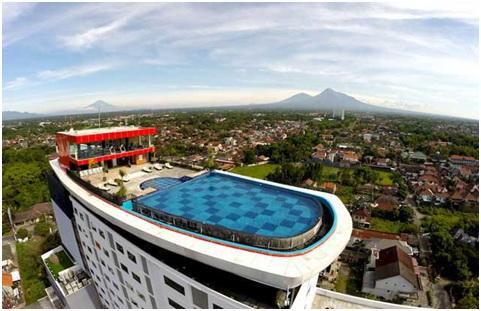 Hotel Indoluxe Jogja Bintang 4 Dengan Kolam Renang Di Roof Top Lantai 19 Tertinggi Yogyakarta