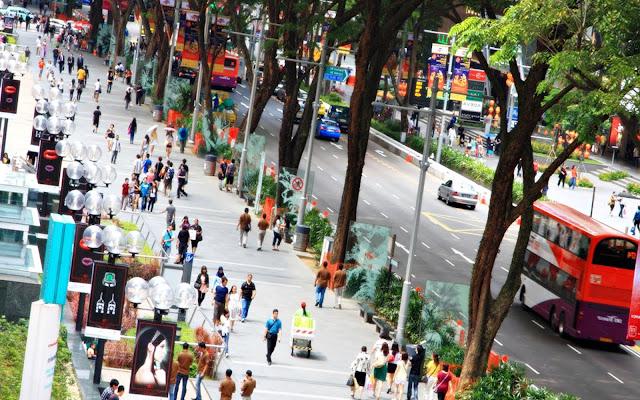 Singapur Orchard Road Caddesi Fotoğrafı