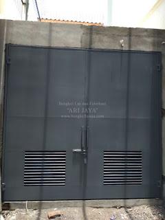 jasa pembuatan pintu besi ruang panel listrik