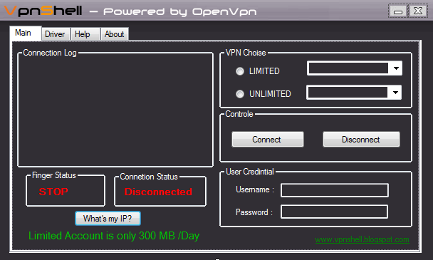 VpnShell - Powered By OpenVpn Portable