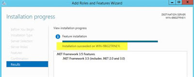 installation of dot net framework 35 failed