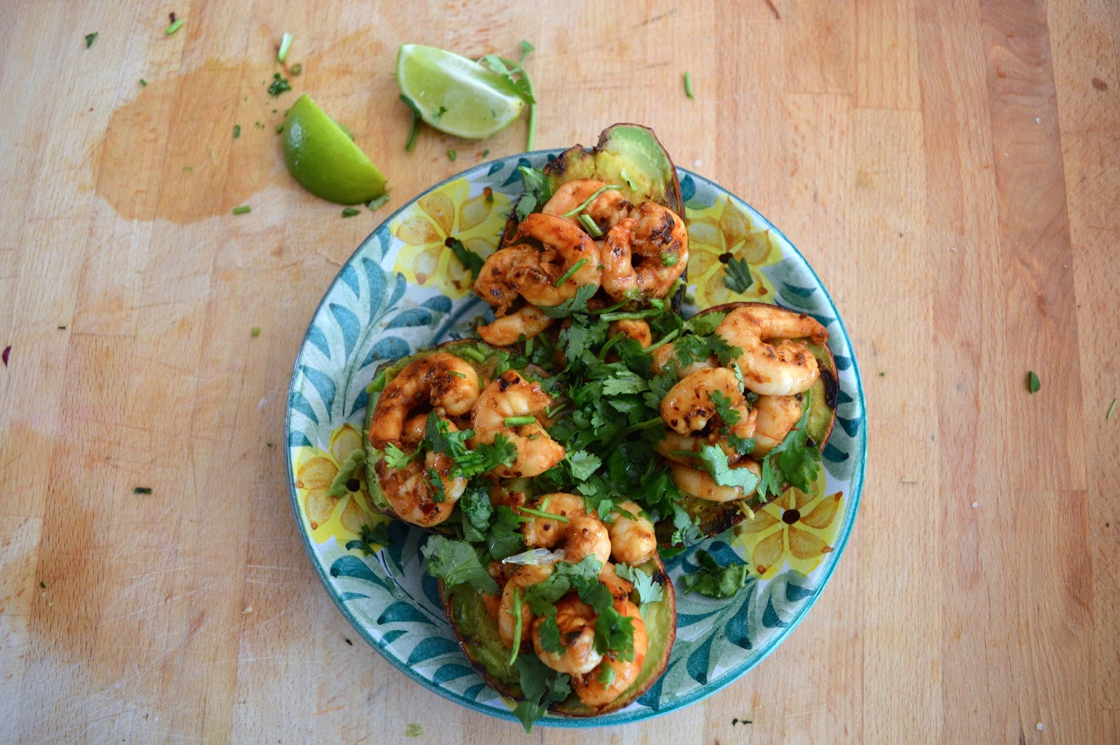 Grilled Avocado With Prawns recipe, food bloggers, Dalry Rose Blog