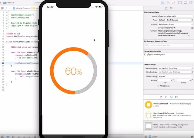 Circular Progress Bar iPhone X