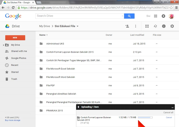 Google Drive - Upload Files and Folder