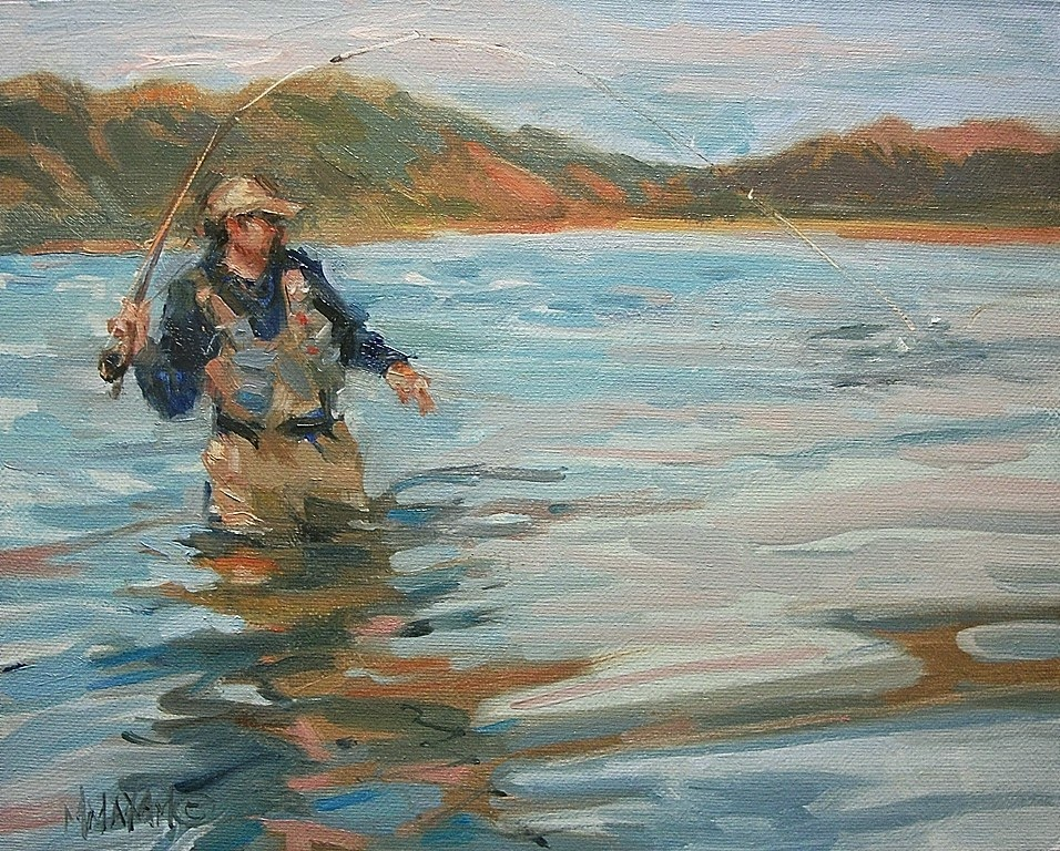 Mary maxam paintings bringing to hand more fly for Larry king fish oil