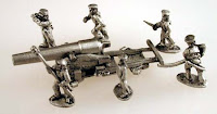 NT123 10mm ACW Naval 150 Pdr Rifle with 6 Crew