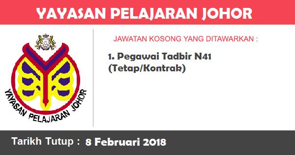 Jawatan Kosong di Yayasan Pelajaran Johor (YPJ)