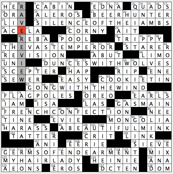 authentic typical crossword clue