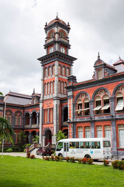 Queen's Royal College in Queen's Park Savannah in Port of Spain, Trinidad
