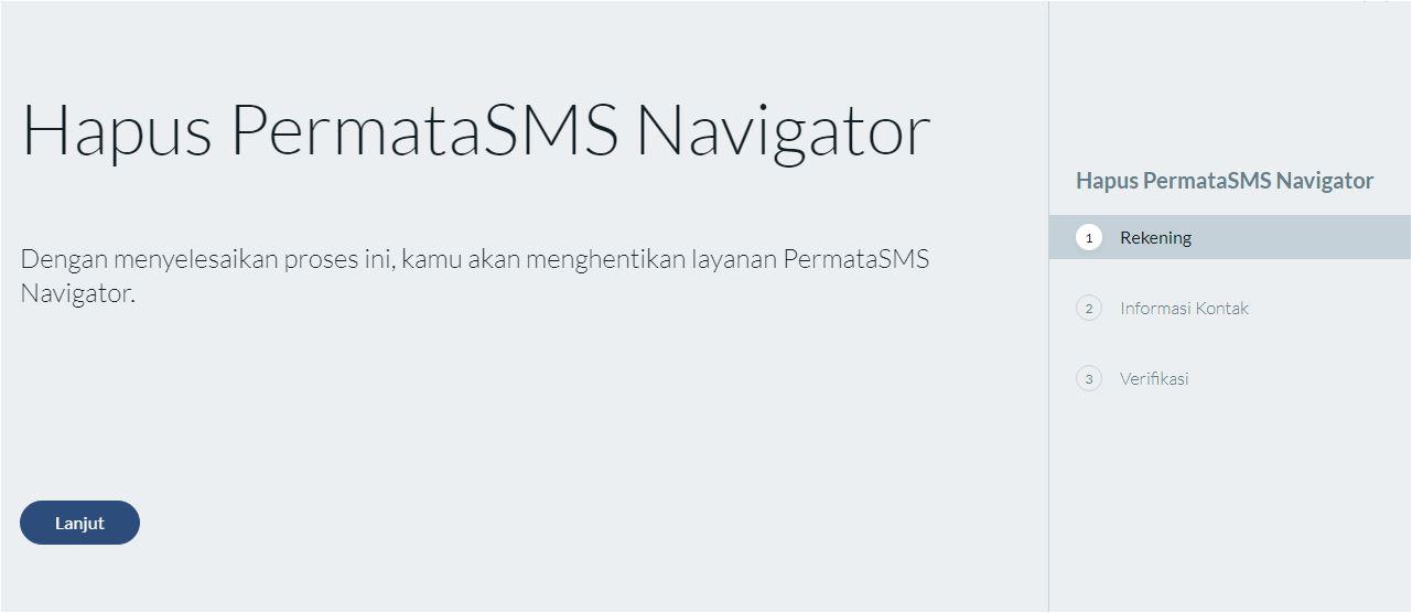 Lanjutan Hapus SMS Navigator Bank Permata